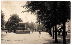 Heuvel 1909 kiosk en lindeboom.