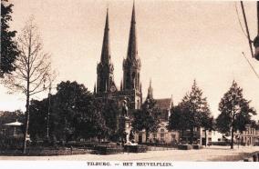 Heuvel met standbeeld Willem II 1925